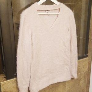 light pink fuzzy arizona sweater